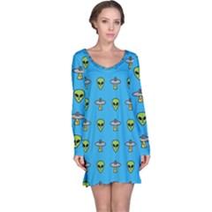 Alien Pattern Long Sleeve Nightdress