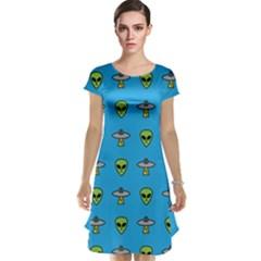 Alien Pattern Cap Sleeve Nightdress