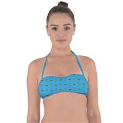 Alien Pattern Halter Bandeau Bikini Top