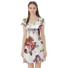 Texture Pattern Fabric Design Short Sleeve Skater Dress