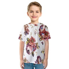 Texture Pattern Fabric Design Kids  Sport Mesh Tee