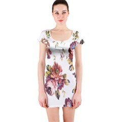 Texture Pattern Fabric Design Short Sleeve Bodycon Dress