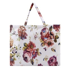 Texture Pattern Fabric Design Zipper Large Tote Bag