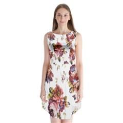 Texture Pattern Fabric Design Sleeveless Chiffon Dress