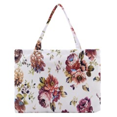 Texture Pattern Fabric Design Medium Zipper Tote Bag