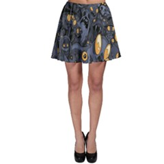 Monster Cover Pattern Skater Skirt