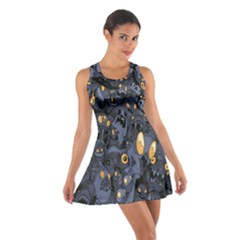 Monster Cover Pattern Cotton Racerback Dress