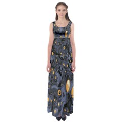 Monster Cover Pattern Empire Waist Maxi Dress