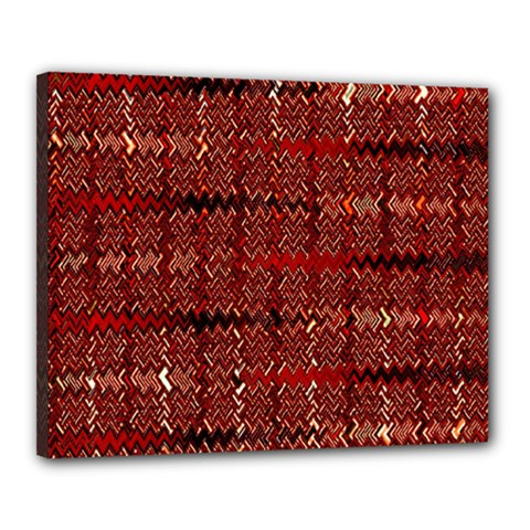 Rust Red Zig Zag Pattern Canvas 20  x 16