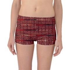Rust Red Zig Zag Pattern Boyleg Bikini Bottoms