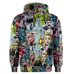 Vintage Horror Collage Pattern Men s Pullover Hoodie