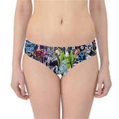 Vintage Horror Collage Pattern Hipster Bikini Bottoms