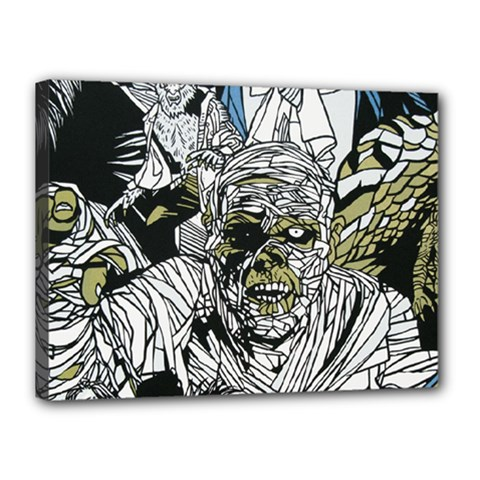 The Monster Squad Canvas 16  x 12