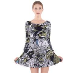 The Monster Squad Long Sleeve Velvet Skater Dress