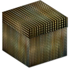 Background Colors Of Green And Gold In A Wave Form Storage Stool 12