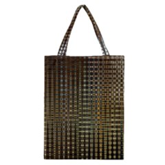 Background Colors Of Green And Gold In A Wave Form Classic Tote Bag