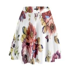 Texture Pattern Fabric Design High Waist Skirt