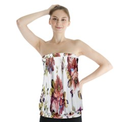 Texture Pattern Fabric Design Strapless Top