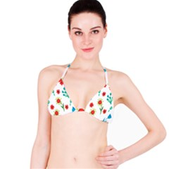Flowers Fabric Design Bikini Top