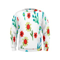 Flowers Fabric Design Kids  Sweatshirt
