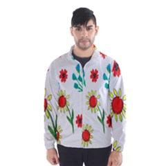 Flowers Fabric Design Wind Breaker (Men)