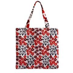 Simple Japanese Patterns Zipper Grocery Tote Bag