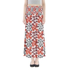 Simple Japanese Patterns Full Length Maxi Skirt