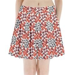 Simple Japanese Patterns Pleated Mini Skirt
