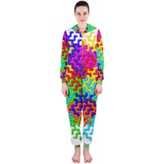 3d Fsm Tessellation Pattern Hooded Jumpsuit (Ladies)