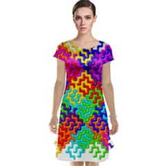 3d Fsm Tessellation Pattern Cap Sleeve Nightdress