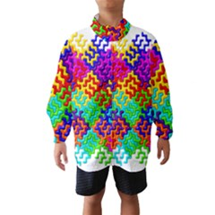 3d Fsm Tessellation Pattern Wind Breaker (Kids)