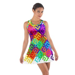 3d Fsm Tessellation Pattern Cotton Racerback Dress