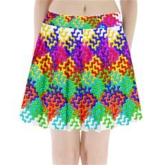 3d Fsm Tessellation Pattern Pleated Mini Skirt