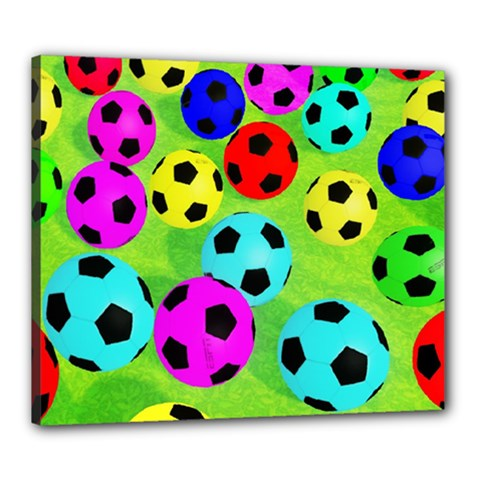 Balls Colors Canvas 24  X 20