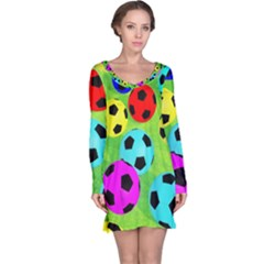 Balls Colors Long Sleeve Nightdress