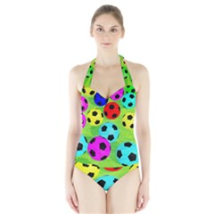 Balls Colors Halter Swimsuit