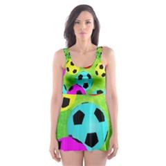Balls Colors Skater Dress Swimsuit