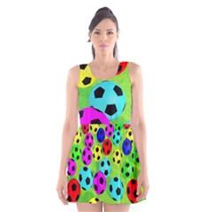 Balls Colors Scoop Neck Skater Dress