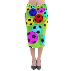 Balls Colors Midi Pencil Skirt