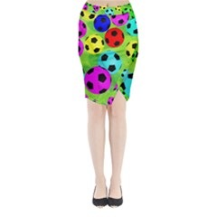 Balls Colors Midi Wrap Pencil Skirt