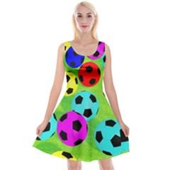 Balls Colors Reversible Velvet Sleeveless Dress