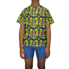 Smiley Monster Kids  Short Sleeve Swimwear