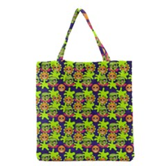 Smiley Monster Grocery Tote Bag