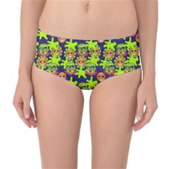 Smiley Monster Mid Waist Bikini Bottoms