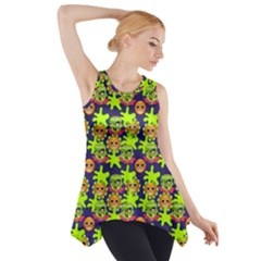 Smiley Monster Side Drop Tank Tunic