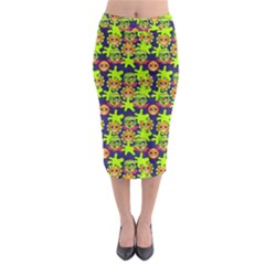 Smiley Monster Midi Pencil Skirt