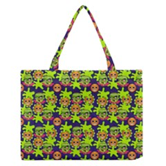 Smiley Monster Medium Zipper Tote Bag