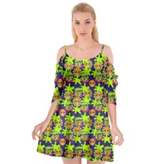 Smiley Monster Cutout Spaghetti Strap Chiffon Dress