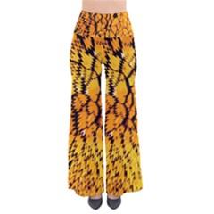 Yellow Chevron Zigzag Pattern Pants