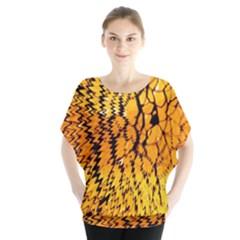 Yellow Chevron Zigzag Pattern Blouse